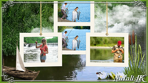 фотошоп коллаж рыбак